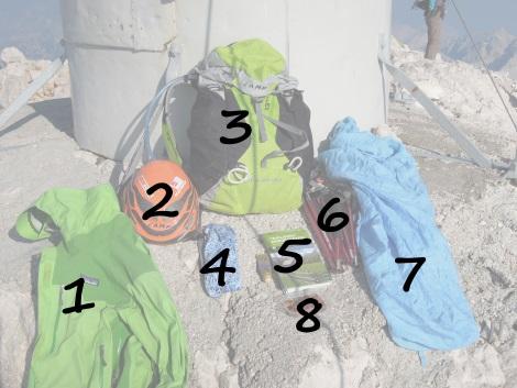 sac choix triglav randonnée patagonia camp sea summit gula buff xenon speed x3backdoor montagne alpi slovénie