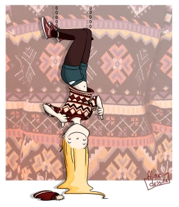 Aline dessine- dessin escalade humoristique- femme sport illustration interview montagne escalade