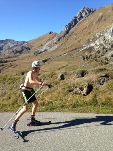 col entrainement sport ski roues entrainement montagne