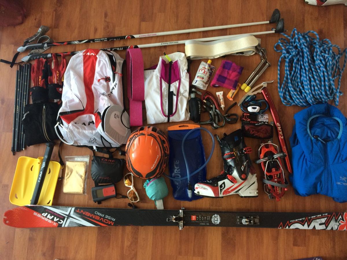 sac matériel contenu compétition ski rando règlement ski-alpinisme