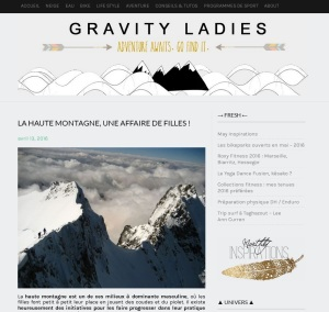alpinisme au feminin gravity ladies filles montagne