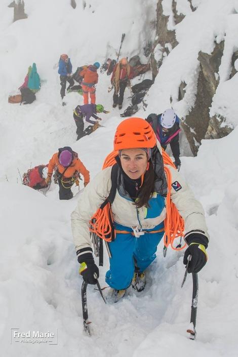 Interview de Marion poitevin / www.pasquedescollants.com/entrainement préparation physique sport montagne alpinisme féminin pour discuter entrainement et préparation physique