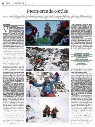 GFHM Le monde premieres de cordée alpinisme féminin sport femme