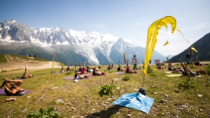 Yoga chamonix festival mont-blanc / http://pasquedescollants.wordpress.com / on n'est pas que des collants
