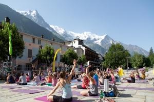 Yoga chamonix festival mont-blanc / http://pasquedescollants.wordpress.com / on n'est pas que des collants