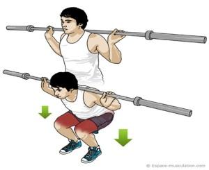 squat séance d'entrainement Laetitia Roux préparation physique